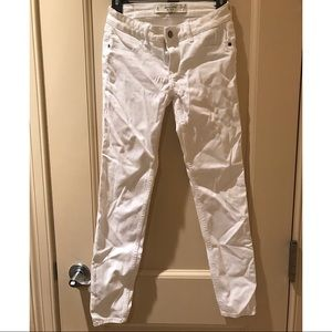 White Abercrombie and Fitch jeggings